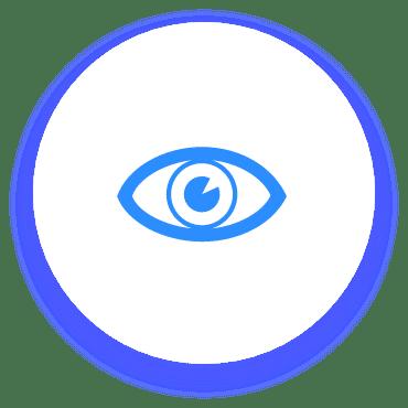 Icono transparencia, vision, claro, ojo